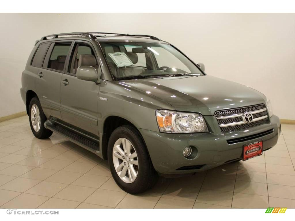 2007 Highlander Hybrid Limited 4wd Oasis Green Pearl Ash Gray Photo 1