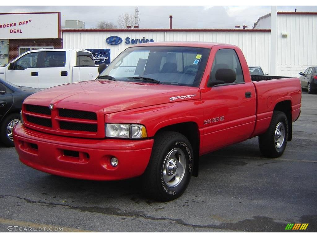 1999 flame red dodge ram 1500 sport regular cab 22681968 car color galleries. Black Bedroom Furniture Sets. Home Design Ideas