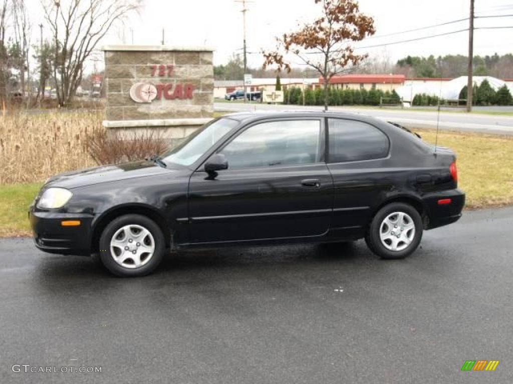2005 Ebony Black Hyundai Accent Gls Coupe 22687684 Gtcarlot Com Car Color Galleries
