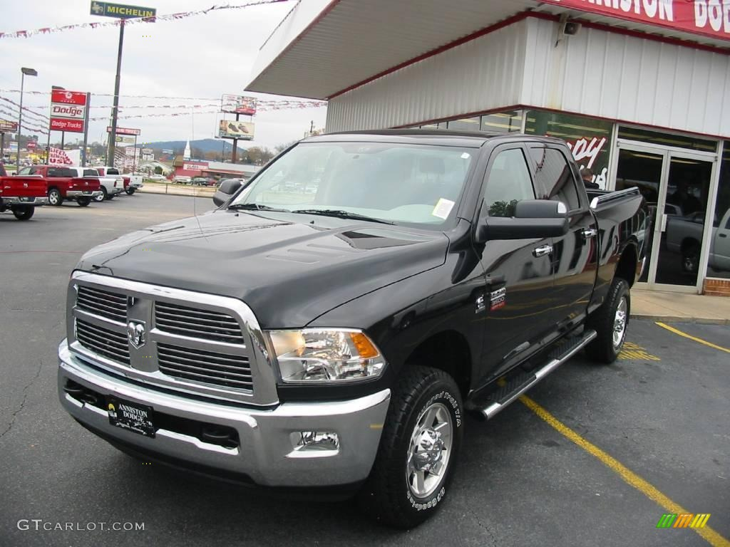 2010 Ram 3500 Big Horn Edition Crew Cab 4x4 - Brilliant Black Crystal Pearl / Dark Slate/Medium Graystone photo #1