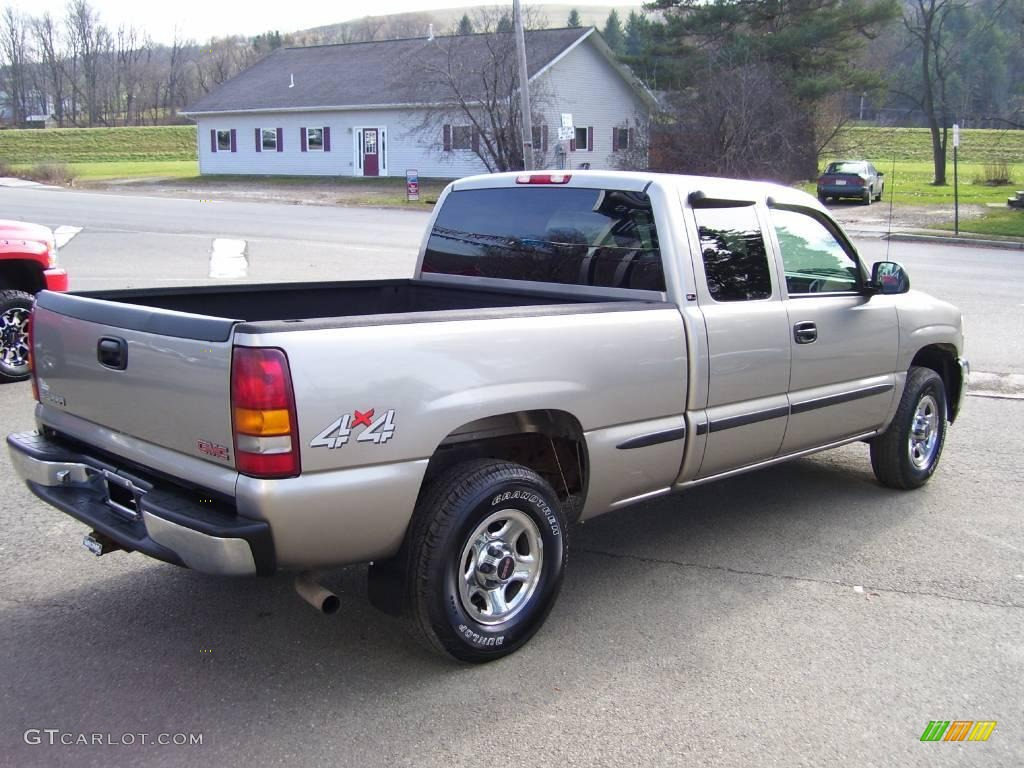 2001 pewter metallic gmc sierra 1500 sl extended cab 4x4 22759262 photo 3 car. Black Bedroom Furniture Sets. Home Design Ideas