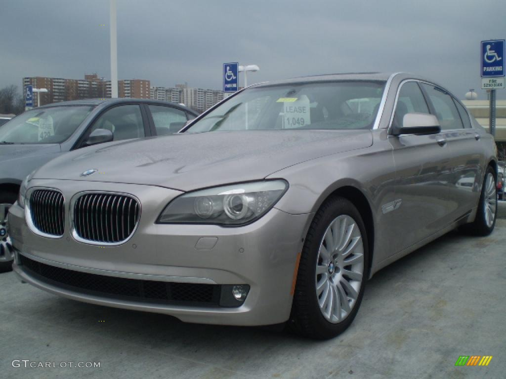 2009 cashmere silver metallic bmw 7 series 750li sedan. Black Bedroom Furniture Sets. Home Design Ideas