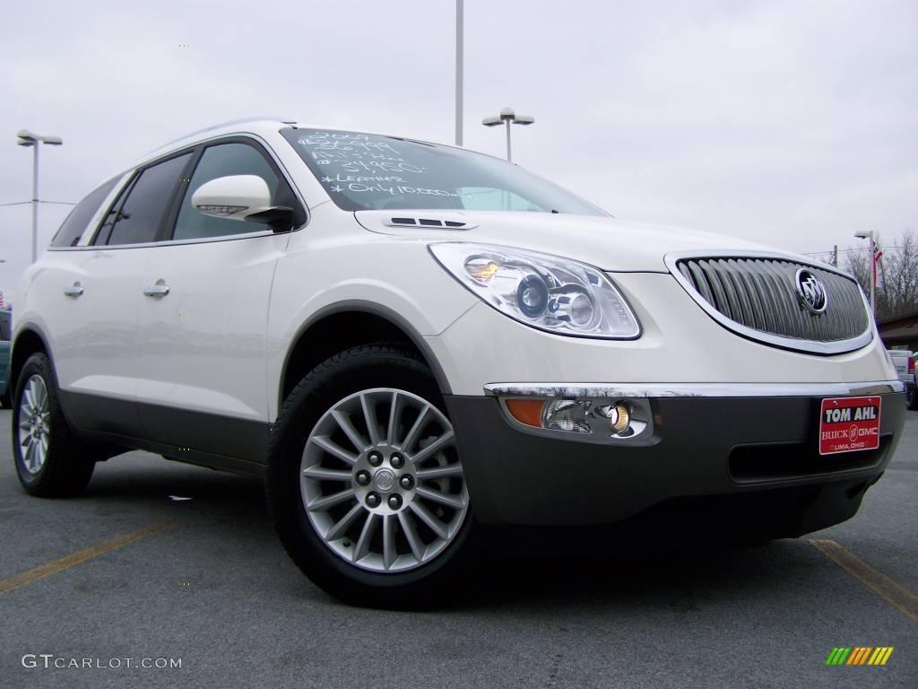 2009 Enclave CXL AWD - White Opal / Ebony Black/Ebony photo #1