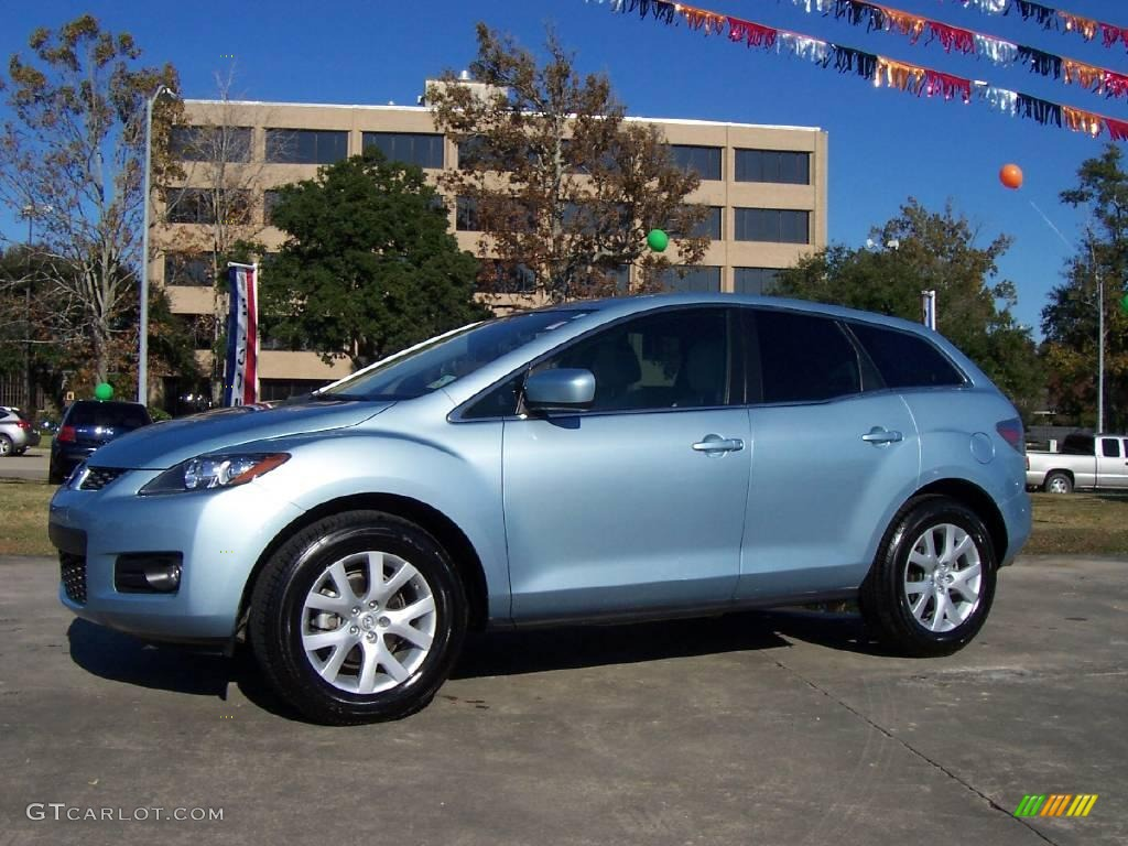2007 icy blue metallic mazda cx 7 grand touring 22845790 car color galleries. Black Bedroom Furniture Sets. Home Design Ideas