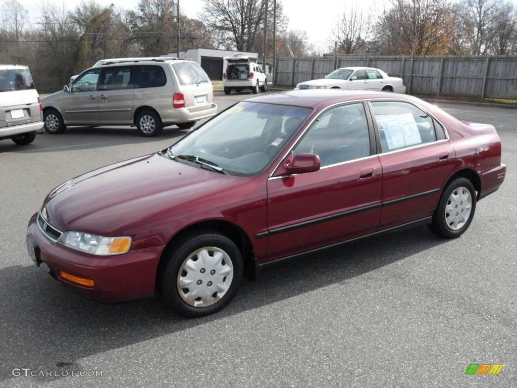 Honda honda accord 1996 : 1996 Bordeaux Red Pearl Honda Accord LX Sedan #22925921 | GTCarLot ...