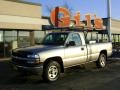 2000 Light Pewter Metallic Chevrolet Silverado 1500 Regular Cab 4x4  photo #1