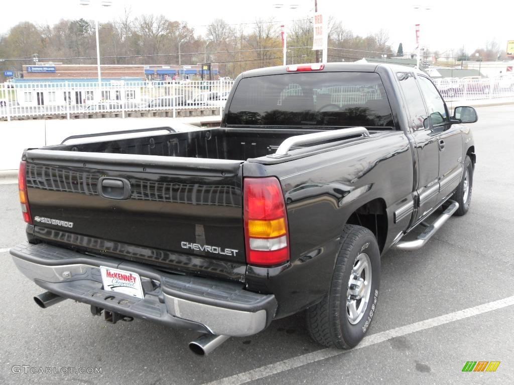 2002 Silverado 1500 LT Extended Cab - Onyx Black / Tan photo #4