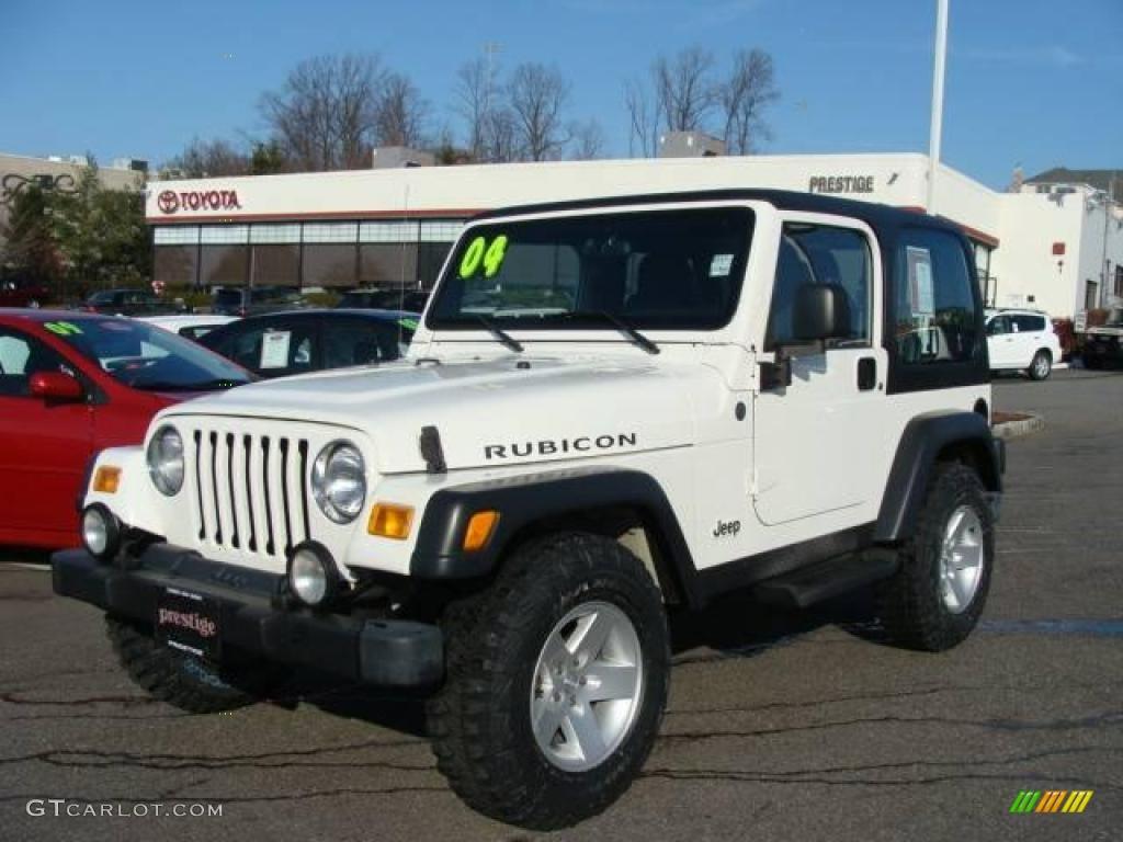 2004 Stone White Jeep Wrangler Rubicon 4x4 22983886