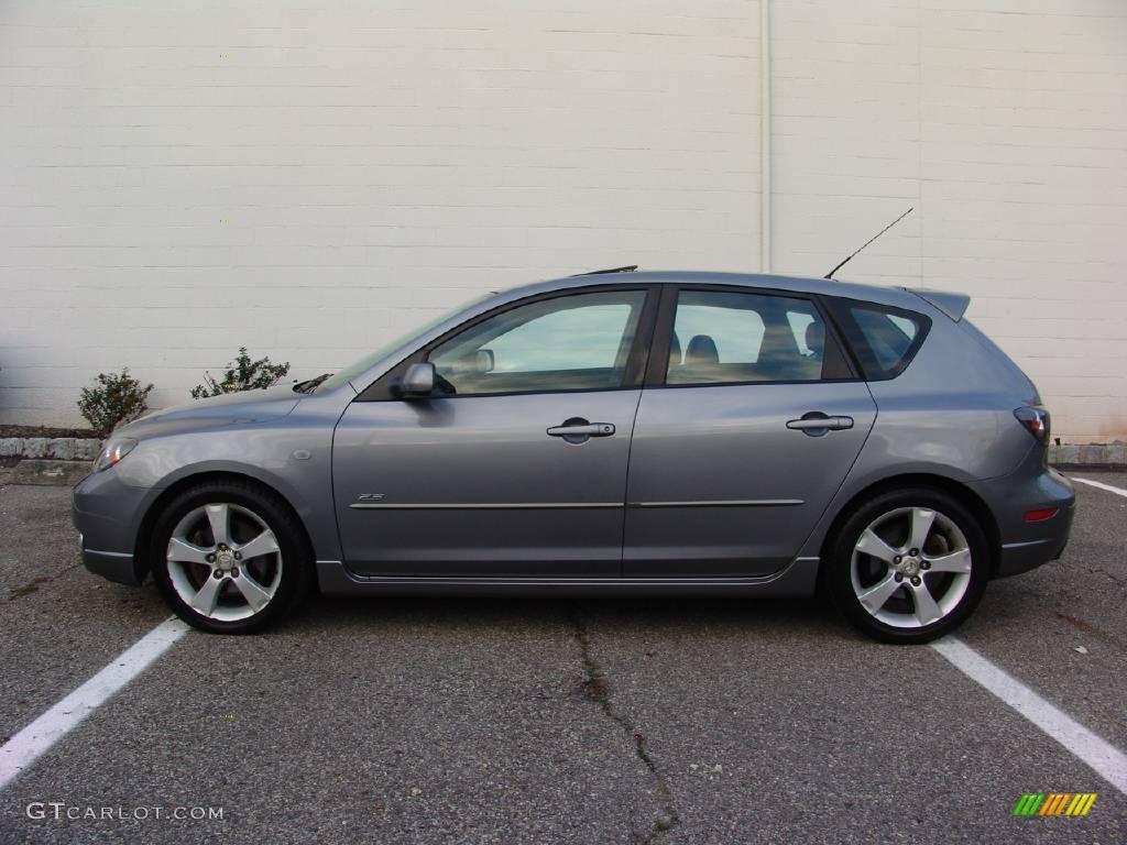 2005 titanium gray metallic mazda mazda3 s hatchback #22978085