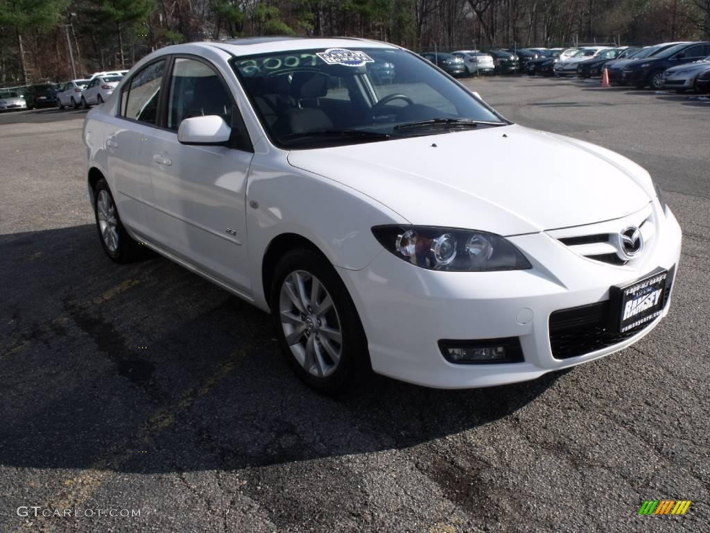 2007 crystal white pearl mazda mazda3 s sport sedan 22993210 car color galleries. Black Bedroom Furniture Sets. Home Design Ideas