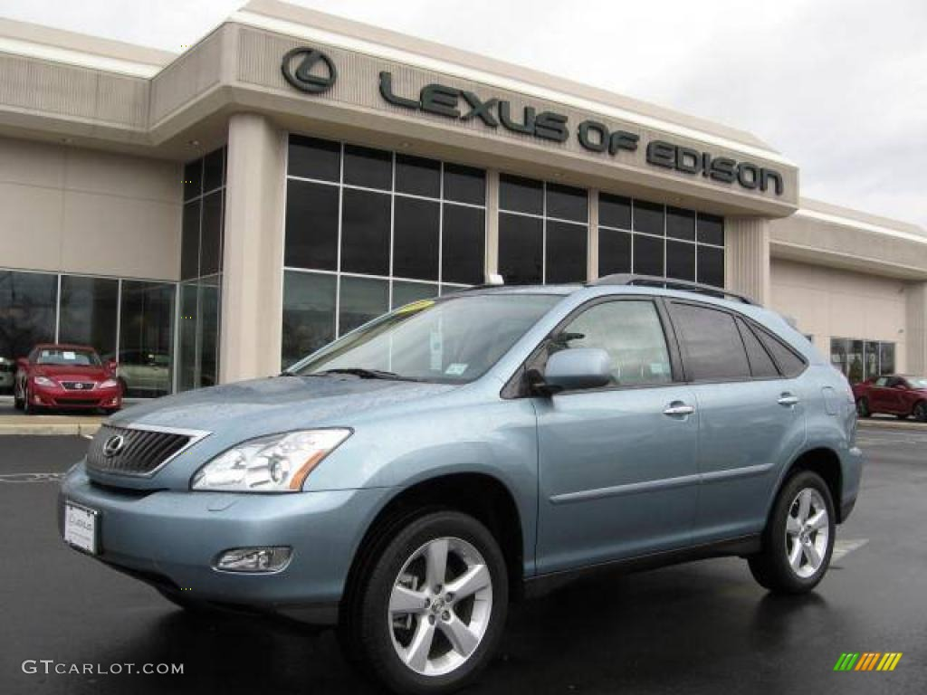 2008 rx 350 awd breakwater blue metallic light gray photo 1