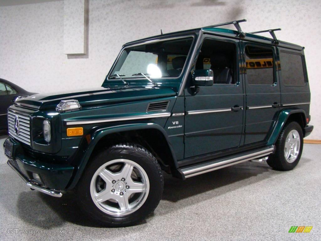 2005 everest green metallic mercedes benz g 55 amg for Green mercedes benz
