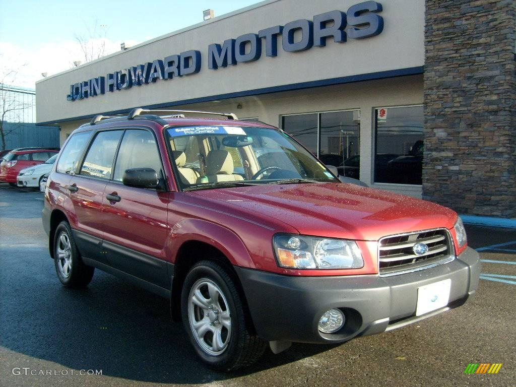 2004 cayenne red pearl subaru forester 2 5 x 23095266. Black Bedroom Furniture Sets. Home Design Ideas