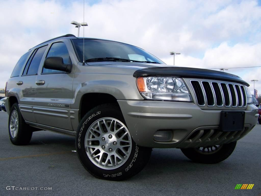 2003 light pewter metallic jeep grand cherokee limited 4x4 23074791 car color. Black Bedroom Furniture Sets. Home Design Ideas
