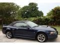 2001 True Blue Metallic Ford Mustang GT Convertible  photo #12