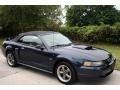 2001 True Blue Metallic Ford Mustang GT Convertible  photo #13