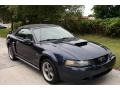 2001 True Blue Metallic Ford Mustang GT Convertible  photo #14
