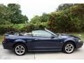 2001 True Blue Metallic Ford Mustang GT Convertible  photo #17
