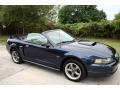2001 True Blue Metallic Ford Mustang GT Convertible  photo #18