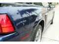2001 True Blue Metallic Ford Mustang GT Convertible  photo #29