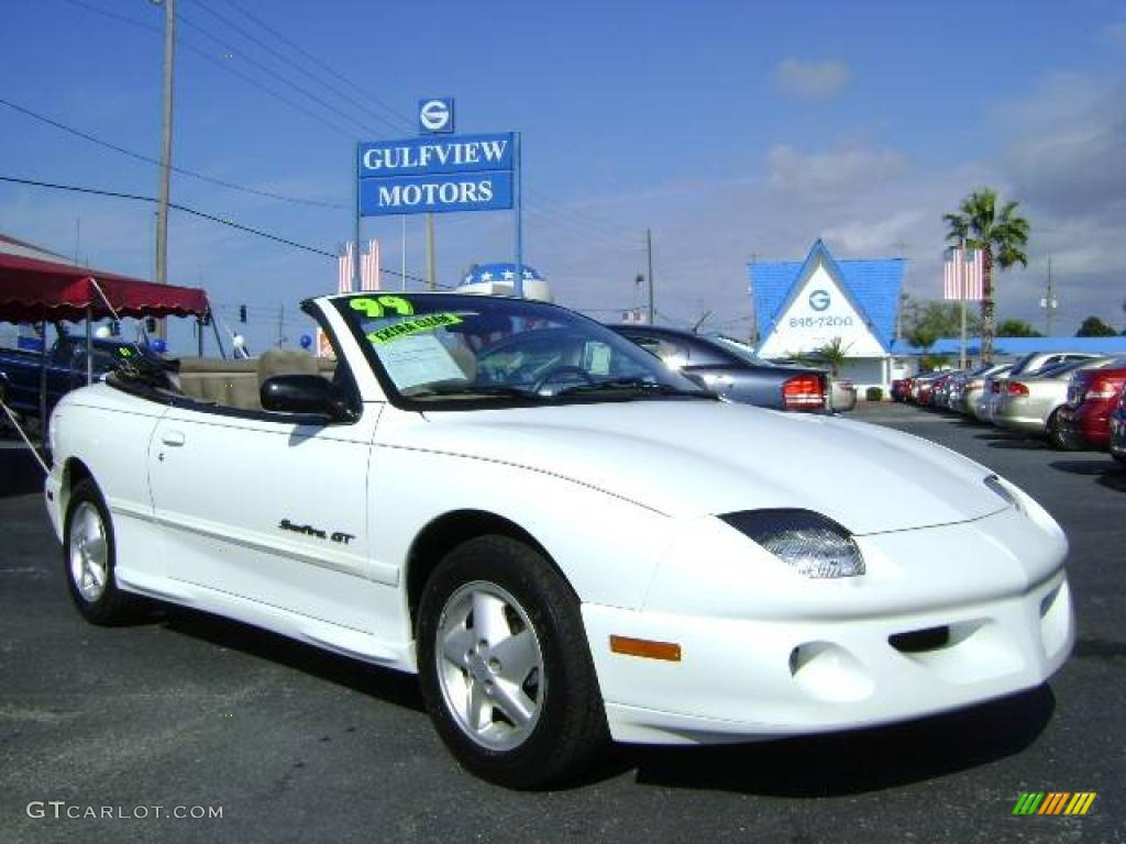 1999 arctic white pontiac sunfire gt convertible 2308733. Black Bedroom Furniture Sets. Home Design Ideas