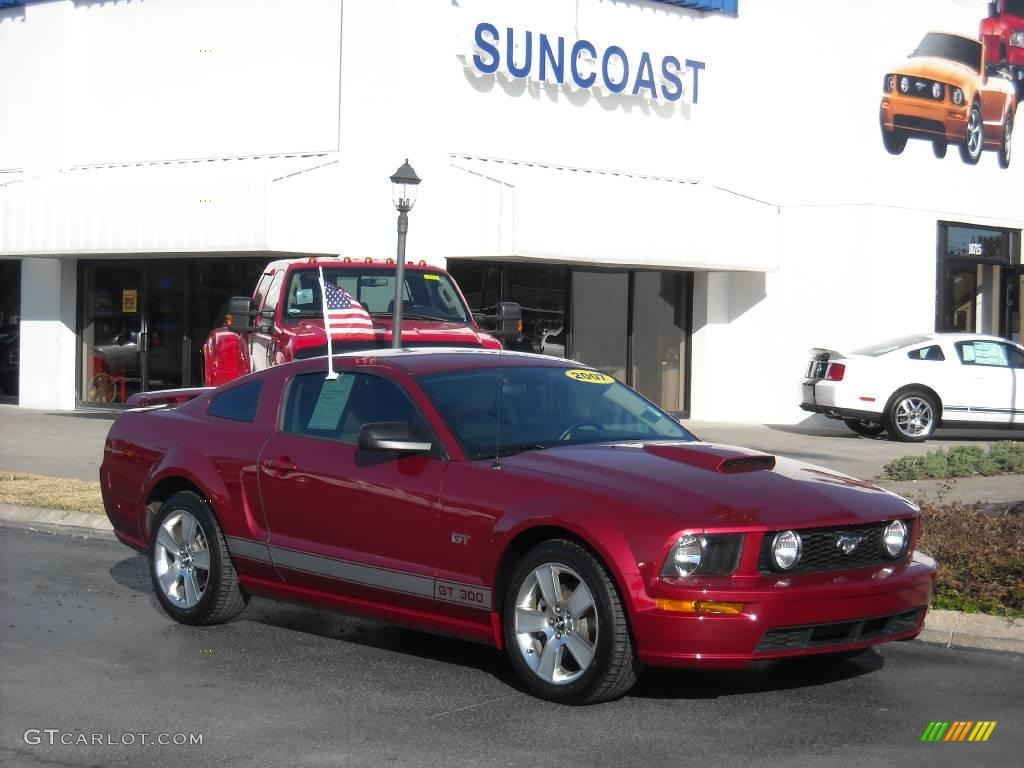 2007 Mustang GT Premium Coupe - Redfire Metallic / Medium Parchment photo #1