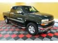 2002 Forest Green Metallic Chevrolet Silverado 1500 LS Extended Cab 4x4  photo #1