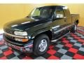 2002 Forest Green Metallic Chevrolet Silverado 1500 LS Extended Cab 4x4  photo #3