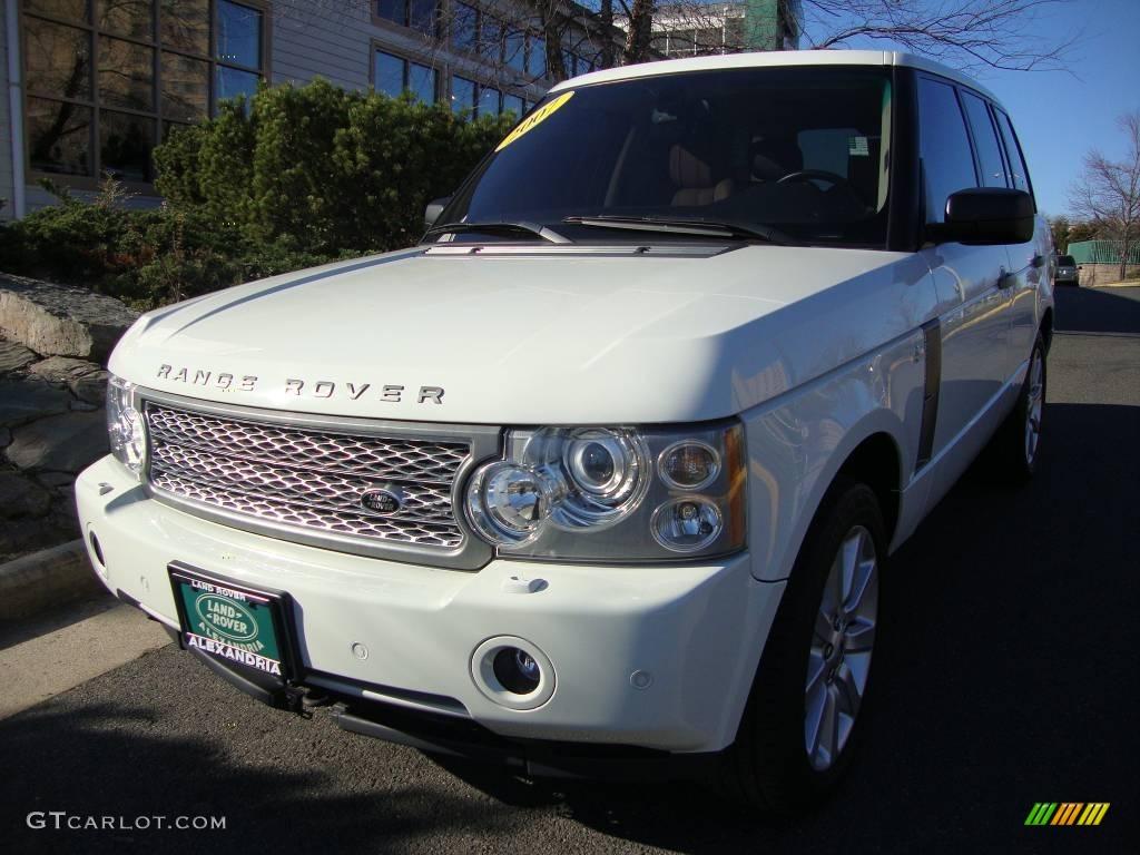 2007 Range Rover Supercharged - Chawton White / Sand/Jet photo #1