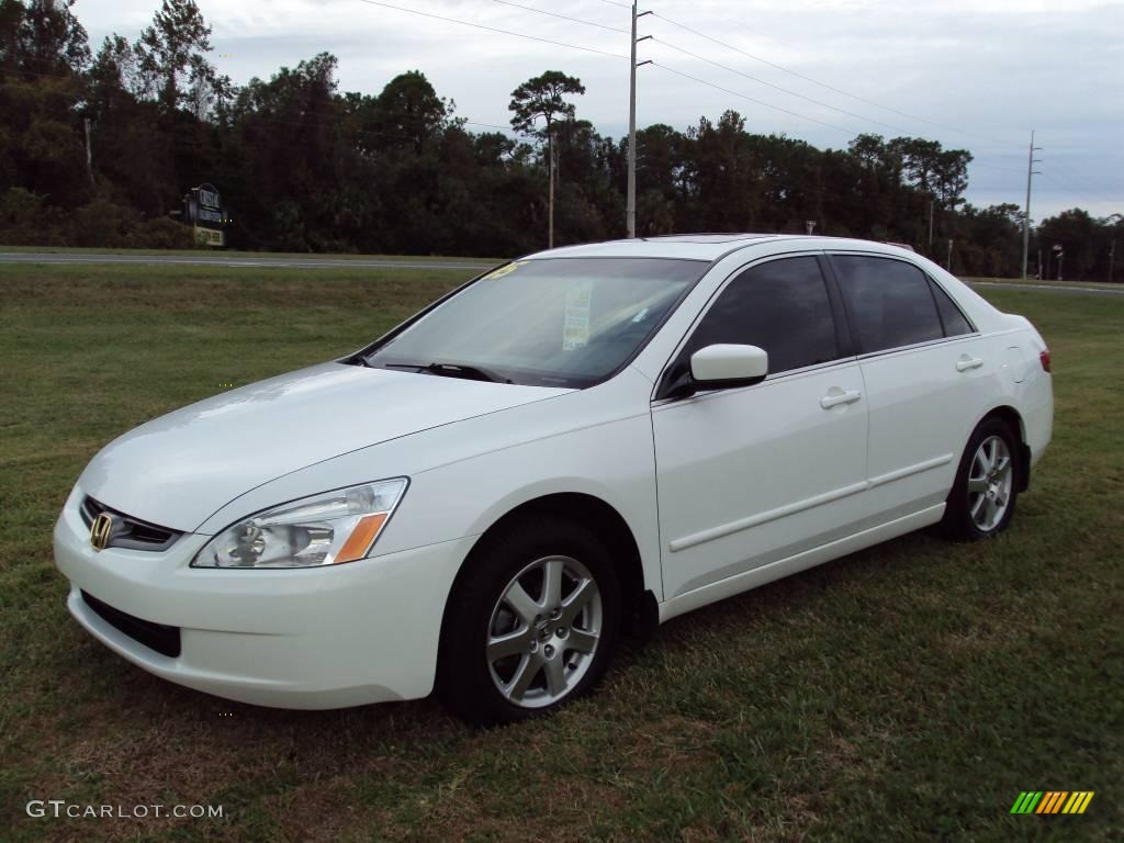 2005 taffeta white honda accord ex l v6 sedan 23190462. Black Bedroom Furniture Sets. Home Design Ideas
