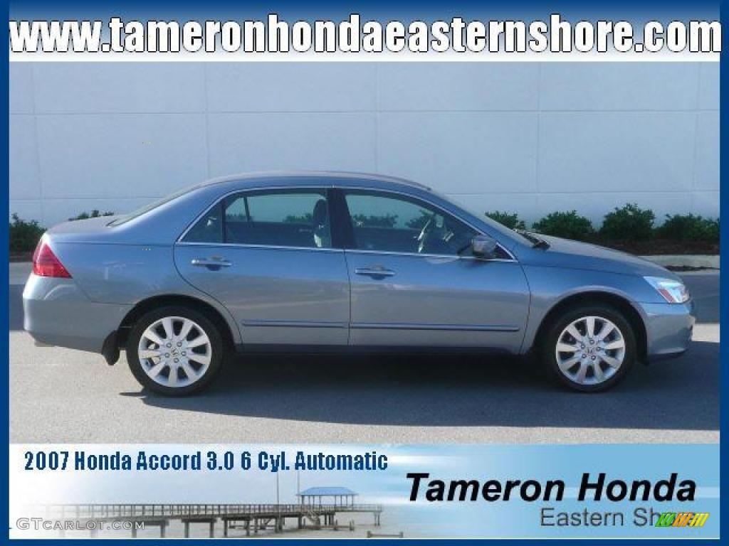 2007 cool blue metallic honda accord se v6 sedan 23164842 car color galleries. Black Bedroom Furniture Sets. Home Design Ideas