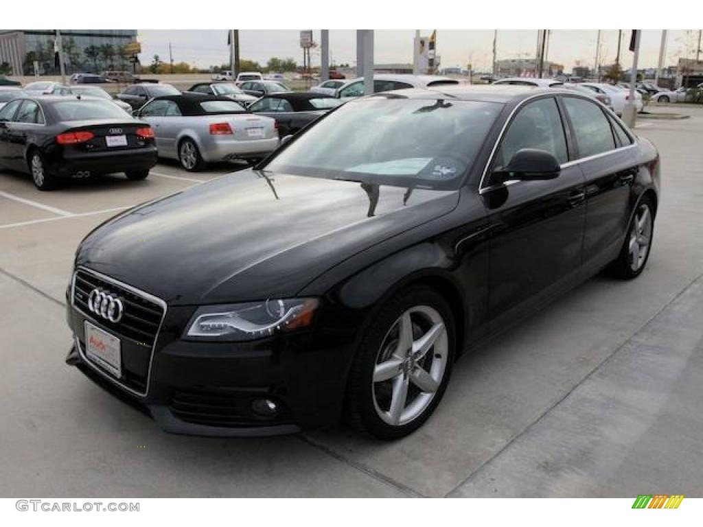 2009 brilliant black audi a4 3 2 quattro sedan 23264701. Black Bedroom Furniture Sets. Home Design Ideas