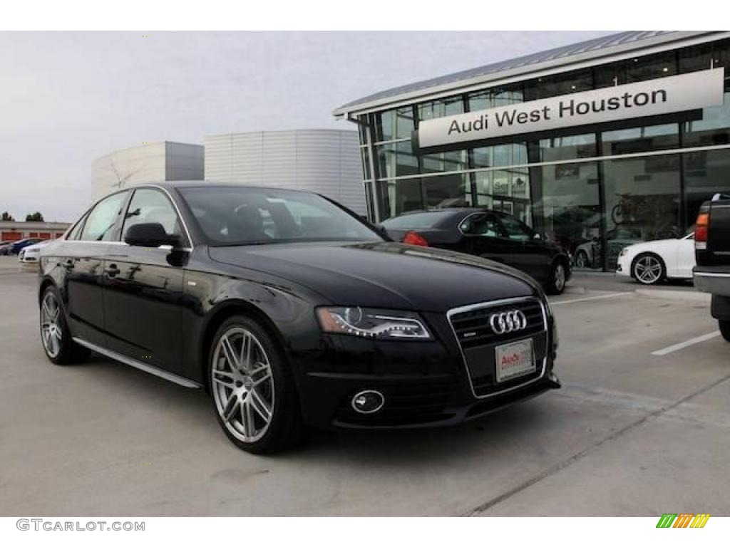 2010 phantom black pearl effect audi a4 2 0t quattro sedan 23264760 car color. Black Bedroom Furniture Sets. Home Design Ideas