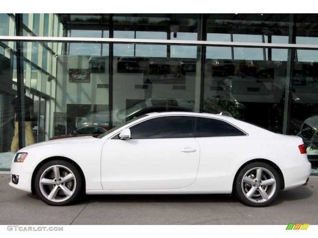 2009 Ibis White Audi A5 32 Quattro Coupe 23264682 Photo