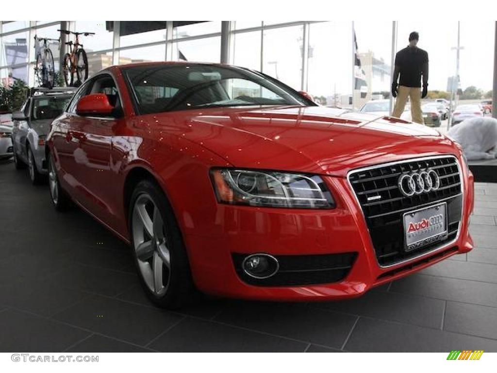 2009 Brilliant Red Audi A5 3.2 quattro Coupe #23264683 ...
