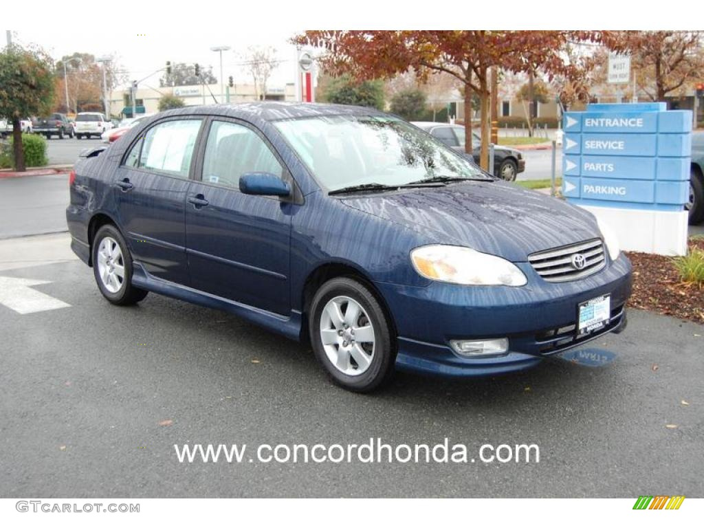 2004 indigo ink blue pearl toyota corolla s 23250777. Black Bedroom Furniture Sets. Home Design Ideas