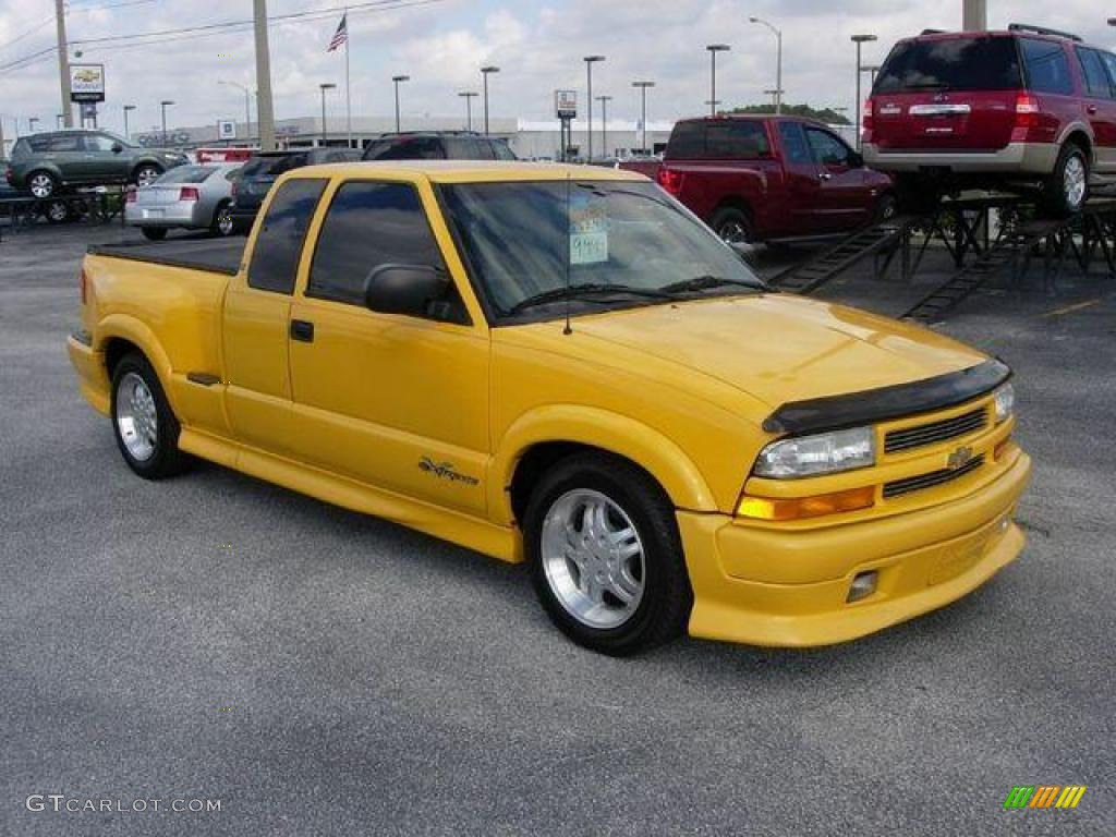 2003 Yellow Chevrolet S10 Xtreme Extended Cab 23352252 Photo 4