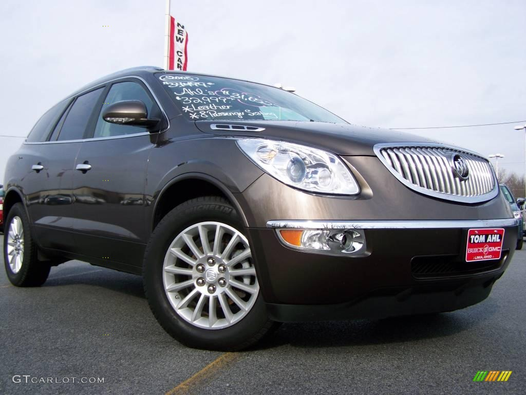 2008 Enclave CXL AWD - Cocoa Metallic / Ebony/Ebony photo #1