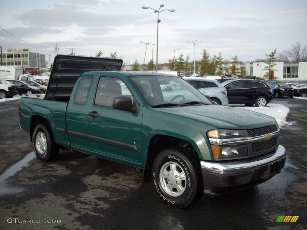 2007 Woodland Green Chevrolet Colorado Work Truck Extended Cab