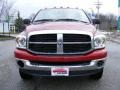 2007 Inferno Red Crystal Pearl Dodge Ram 3500 SLT Quad Cab 4x4 Dually  photo #8