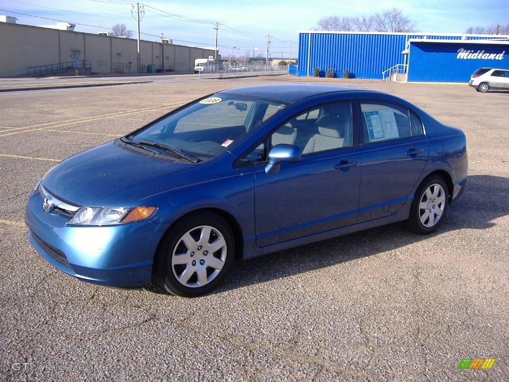 2008 atomic blue metallic honda civic lx sedan 23386978 car color galleries. Black Bedroom Furniture Sets. Home Design Ideas
