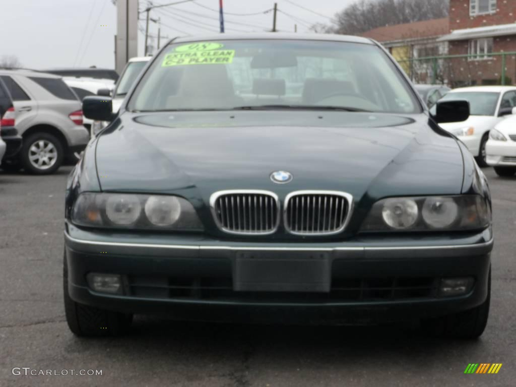 1998 5 Series 528i Sedan - Oxford Green Metallic / Sand Beige photo #1