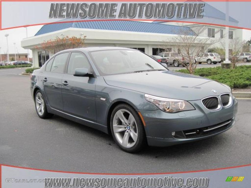 2010 5 Series 528i Sedan - Neptune Blue Metallic / Natural Brown photo #1