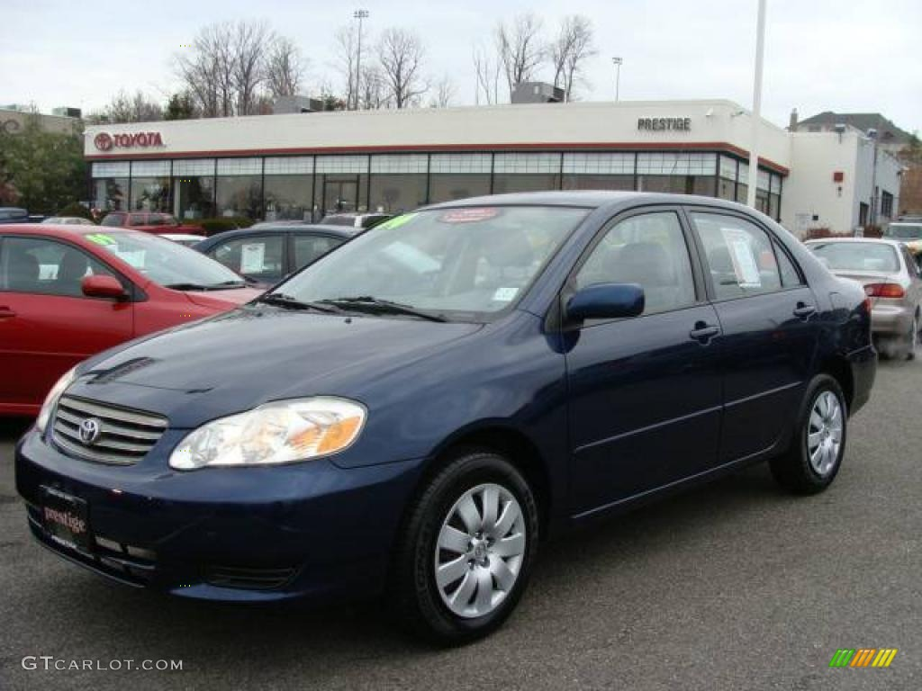 2004 indigo ink blue pearl toyota corolla le 23451860. Black Bedroom Furniture Sets. Home Design Ideas