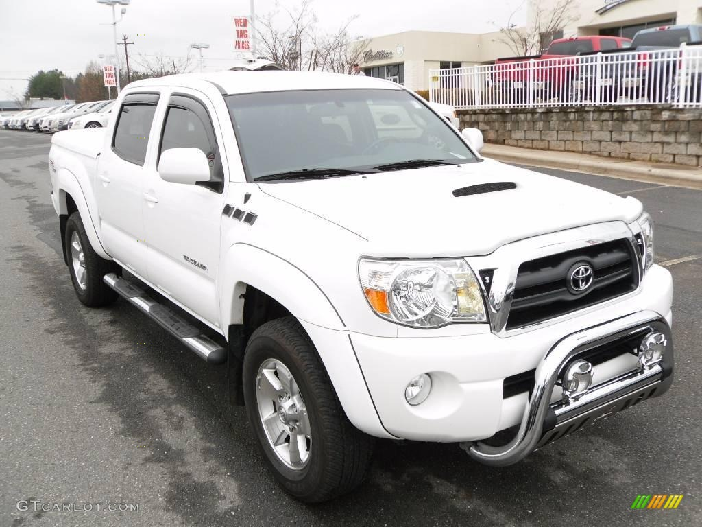 2005 super white toyota tacoma v6 trd sport double cab 4x4 23460791 car color. Black Bedroom Furniture Sets. Home Design Ideas