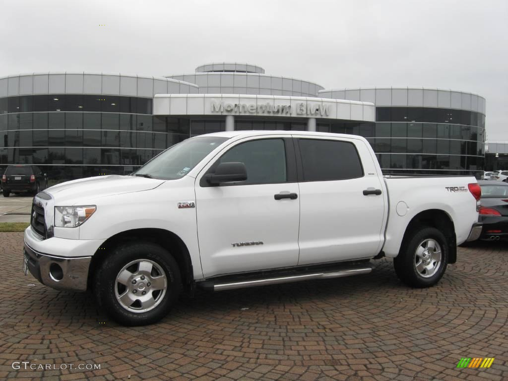 2007 super white toyota tundra sr5 trd crewmax 4x4 23455102 car color galleries. Black Bedroom Furniture Sets. Home Design Ideas