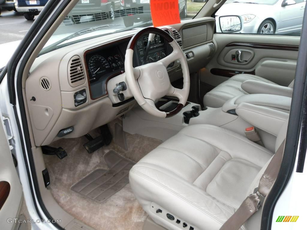 1999 aspen white cadillac escalade 4wd 23460788 photo 26 car color galleries for Cadillac escalade interior colors