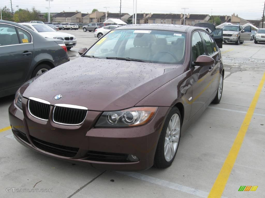 2007 barrique red metallic bmw 3 series 328i sedan. Black Bedroom Furniture Sets. Home Design Ideas