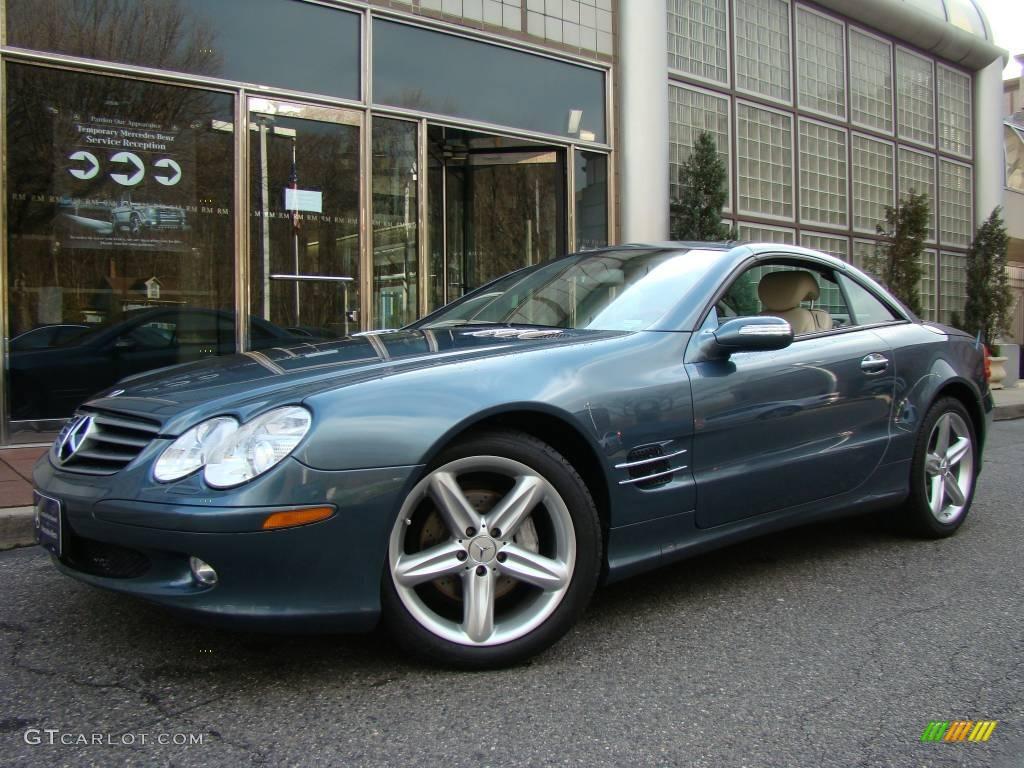 2006 aegean blue metallic mercedes benz sl 500 roadster for Mercedes benz color