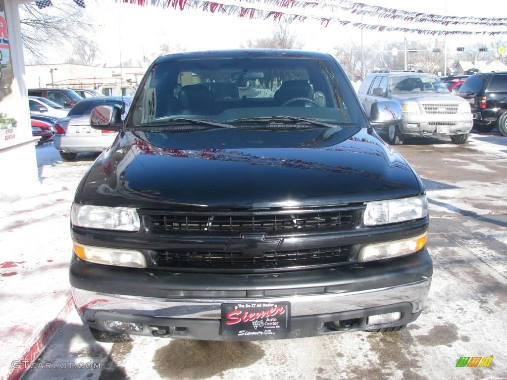 2002 Silverado 1500 LT Extended Cab 4x4 - Onyx Black / Graphite Gray photo #4